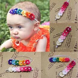 Wholesale Baby Headbands niños infantiles coloridas flores de la tela Pearl accesorios para el pelo linda banda de pelo accesorios de fotografía Headdress pelo Hairbands DHL