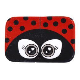 wholesale red ladybug big eyes print bathroom doormar carpet anti slip ladybird door mat pad water absorbent home decor drop ship sale - Home Decor For Sale