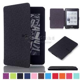 Kindle Paperwhite Case Сверхтонкий магнит Закрытие Кожа PU для KP 1 2 3 Крышка со сном и пробуждением Opp Bag