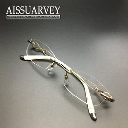 women eyeglasses frame optical rimless elegant prescription metal glasses girl fashion brand designer hollow special purple exquisite inexpensive eyeglass