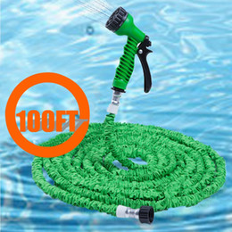 Wholesale- 100FT Green Car Clean Spray Gun Expandable Car Hose Pipe Plastic Made of Durable Latex Flexible And Easy To Handle Storage Store from easy hose manufacturers