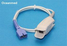 Nellcor Oximax DS-100A Sensor de SpO2 Sensor compatível Oxímetro Pulse Probe Adult Finger Clip, 9 pinos 1m