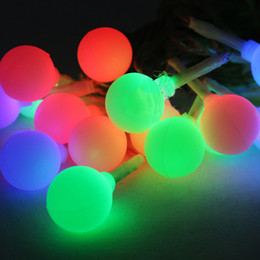 Wholesale-20pcs Outdoor Solar frosted small ball string lights Solar LED  string lights battery light string Christmas lights