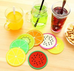 Wholesale Novelty Fruit Design Silicone Coffee Coaster Skidproof Cup Sweet Cup Mat Coaster Home Kitchen Decor