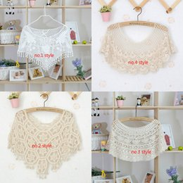 40faa934ac418 Crochet Knit Lace Tops Canada - Fashion Style Womens False Collar Lace  Hollow Crochet Knit Cape