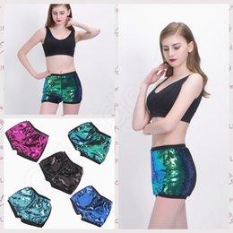 Cintura alta shiny Sequins Shorts para mulheres mais tamanho 2017 Verão Ladies Causal Fitness Shorts Sexy Paillette Pole Dança Shorts RRA21