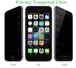 Pour Iphone 7 Intégrité Verre trempé pour S7 iPhone 6 Protecteur d'écran LCD Anti-Spy film Screen Guard Cover pour Samsung S6 / S5 A7