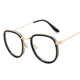 wholesale lisse retro circle women men plain glasses big frame clear lens computer vintage glasses for women lunettes de soleil homme affordable big