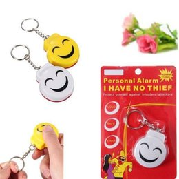online shopping New Arrive Smile Face Alarm Personal Electronic Panic Alarm Anti Rape Anti Attack Alarm Sensor Security Siren Keychain dB For Kids Adults