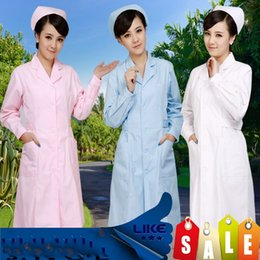 ee6bf406d9d Work Uniform White Canada - Florence nurse long sleeve winter uniform white  pink blue white female