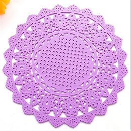 Wholesale- Lace Flower Doilies Silicone Coaster Table Cup Mats Pad Placemat Kitchen Cooking Tools YG0001