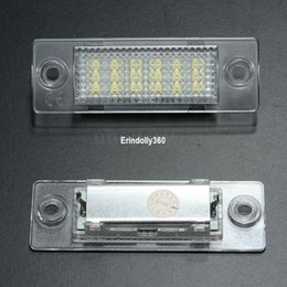 Discount headlight golf 2x LED License Number Plate Light Lamp For VW Cadillac Transporter Golf Error Free