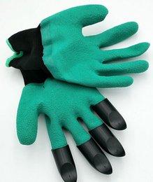 Guantes de jardín para excavar Plantando Unisex Nitrilo resistente al corte No desgastado Puntas de los dedos Clavijas unisex Garras de la mano izquierda Patente pendiente LLFA