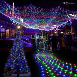 Colorful 300 LED String Light Net Mesh Decorative Fairy Lights Twinkle  Lighting For Christmas Wedding Party Garden Light 220V EU Cheap Wedding  Decorations ...