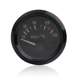 2 Inch Universal Car Pointer Oil Temperature Temp Gauge Car and Motorcycle Truck oil temperature 50-150 with LED Light CEC_543