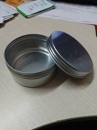 200г Пустой алюминиевый косметический Jar Gloss контейнер Винт Крышка Макияж контейнер Case Tea Box Цена по прейскуранту завода-изготовителя