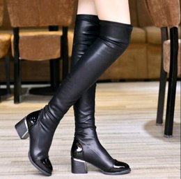 Long Black Boots Flat Heel Online   Long Black Boots Flat Heel for ...