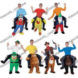 online shopping The Dwarf Stuffed Ride On Me Stag Mascot Carry Piggy Back Fancy Dress Costume Funny Wacky pants