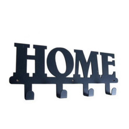 Original Design Robe Hook Letter Series Home 4 Hooks Coat Hat Bag Unique Style Wall Hanger Decor Free Shipping