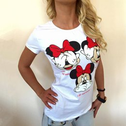 Wholesale Vente en gros CDJLFH t short women nouveau Casual tee Europe America Cotton Prints Short Sleeve O Neck Summer Fashion T shirt Tops Chemise sexy