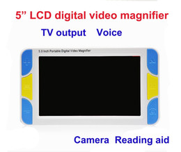 Wholesale Freeshipping LCD Display Low Vision Video Magnifier aide électronique à la lecture Digital Handheld Portable Video Magnifier