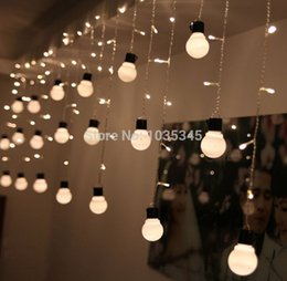Wholesale Novelty Outdoor Lighting 48Beads With10 Big Size 5cm Ball String  LED Starry Light Rope Patio Decor Fairy Icicle Lighting String