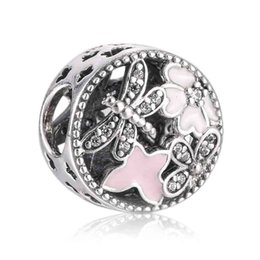 online shopping Authentic Sterling Silver Bead Charm Vintage Openwork Springtime Beads Fit Women Pandora Bracelet Bangle DIY Jewelry HK3613