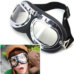 dust goggles byz3  Brand New Motorcycle Glasses dust goggle motorcycle goggles goggles Harley  goggles transparent brown color silver