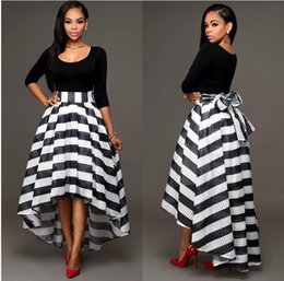 Black Striped Skirt Outfit Online   Black Striped Skirt Outfit for ...
