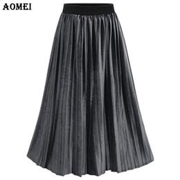 Waist Pleated Denim Skirt Online | Waist Pleated Denim Skirt for Sale