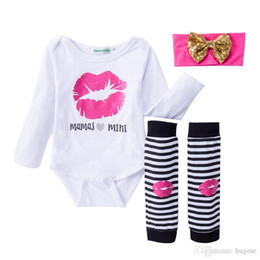 2017 baby 3pcs romper 2017 New Born Babies Clothes Autumn Christmas Rompers 3pcs Sets My First Christmas Romper + Hair band + Foot Straps Infant spring 3pcs Set cheap baby 3pcs romper