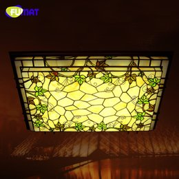 Stained Glass Ceiling Light Fixture: Tiffany Stained Glass Ceiling Lamp Classic Rectangle LED Grapevine Ceiling  Lamp Living Room Bar Corridor Lightings Project Light Fixture,Lighting