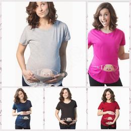 Tops Embarazadas Camisetas Camisetas de maternidad Camisetas Camisetas de Verano Camisetas de algodón blando de manga corta Blusa Delgada Embarazadas Mujeres Ropa RRA19