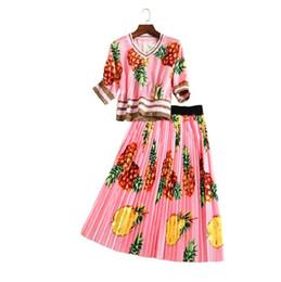 Floral Pleated Knee Length Skirt Online | Floral Pleated Knee ...