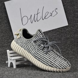 Wholesale 2017 With Box Adidas Yeezy Boost Top Quality men women shoes Yeezy Boost Pirate Black Moonrock Oxford Tan Turtle Dove Gray sneakers
