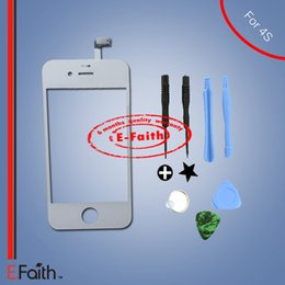 For iPhone 4S White Touch Screen Digitizer Replacement with Tools Kit & free shipping