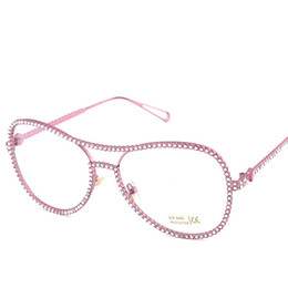 discount designer oversized eyeglasses frames wholesale newest fashion women oversized rhinestone eyeglass frame brand designer