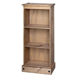 Mercers Furniture Corona Low Narrow Bookcase, Wood, Antique Wax