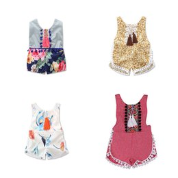 online shopping Toddler Infants Clothes Fashion Backless Onesies Rompers For Girls Newborn Boutique Sleeveless Floral One piece Summer Outfits Months