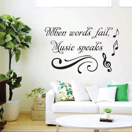 DIY Music Speake Wall Stickers 55X34CM Funny Home Decoration Bedroom Parlor  Decoration Kid Decor Sticker kids music wall decor deals