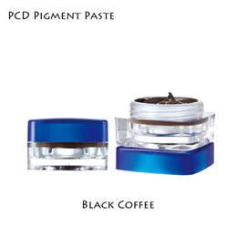 Wholesale pc PCD Permanent makeup ink pigment for microblading permanent makeup beauty tattoo ink Black Coffee
