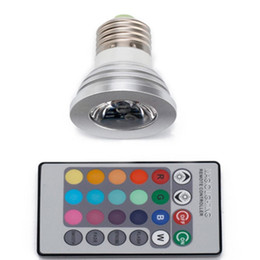 Wholesale Led Lamps 16 Color Changing Led Light Bulb And Remote E27 For Home Party Bar Hotel Stage Coffee House Decoration Light