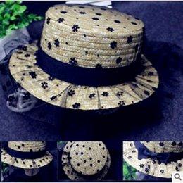 Hot money ms rural vento rede fios sentimento palha bowknot flat-topped chapéu sol praia sol chapéu