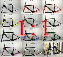 2017 Nouveau 1: 1 Modèle Cipollini NK1K carbone route cadre vélo brillant / matte1K / 3K frameset fork selle tige de serrage Cadre de vélo de course