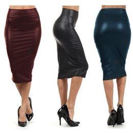 Discount Black Stretch Pencil Skirt Knee Length | 2017 Black ...