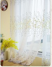 online shopping curtain for living room modern sheer kitchen luxury white tulle drape panel and jacquard floral custom made curtain