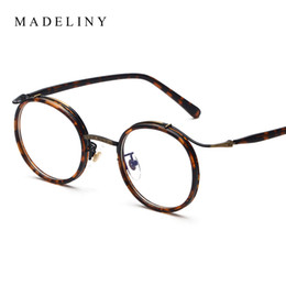 wholesale high quality round glasses frame vintage women optical eyeglasses clear lens retro classic glasses eyewear ma030 discount vintage round
