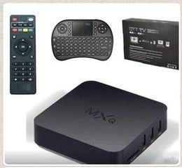MXQ TV Boîtier Amlogic S805 Quad Core Avec XBMC KODI 16.0 Chargé Avec RII I8 Mini Clavier Sans Fil Air Fly Souris Blanc Noir CCA5427 100set