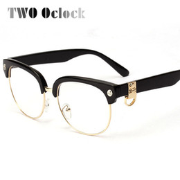 discount skull eyeglasses frames wholesale two oclock classic semi rimless skull eyeglasses frames women