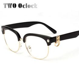 discount skull eyeglasses frames wholesale two oclock classic semi rimless skull eyeglasses frames women